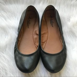 Lucky Brand Emmie Leather Ballet Flats Black